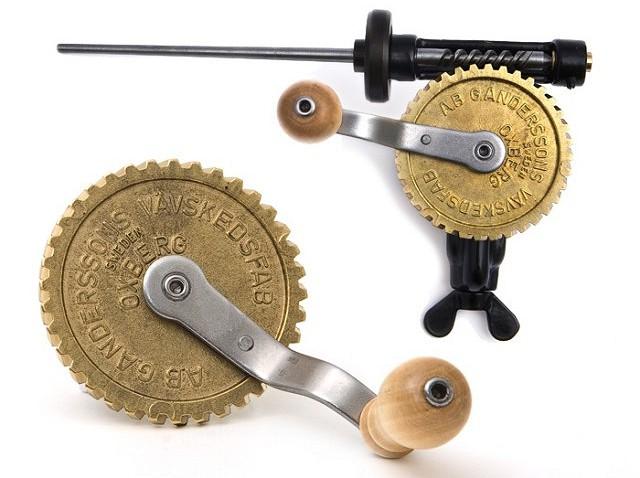 Spoelwinder met messing wiel