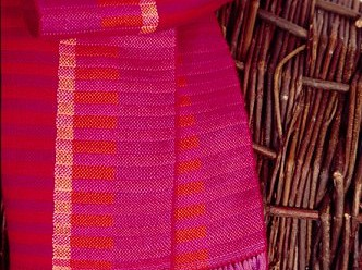 Weefpakket sjaal 0018 java 4 schachten rood