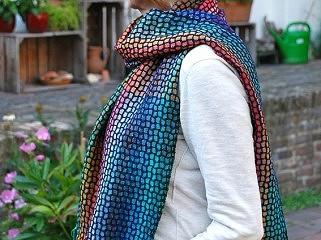 Weefpakket sjaal 0027 malof 8 schachten regenboog