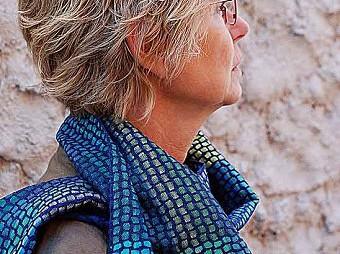 Weefpakket sjaal 0027 malof 8 schachten blauw