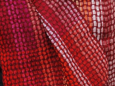 Weefpakket sjaal 0027 malof 8 schachten rood