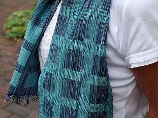 Weefpakket sjaal 0036 hamar midi 4 schachten mint