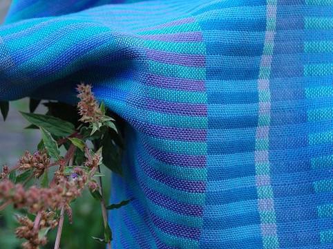 Weefpakket sjaal 0018 java 4 schachten blauw