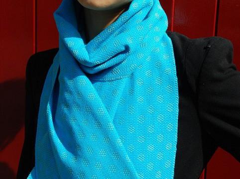 BIO Weefpakket sjaal 0002 sixties 2 stuks blauw/groen