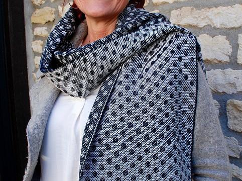 BIO Weefpakket sjaal 0002 sixties  2 stuks zwart/wit