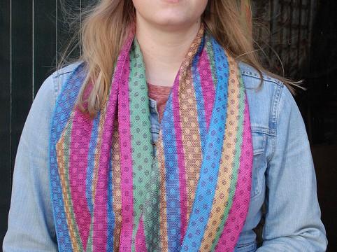 BIO Weefpakket sjaal 0004 circle 2 stuks lila/aubergine