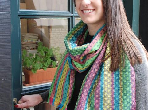 BIO Weefpakket sjaal 0004 circle  2 stuks groen/blauw