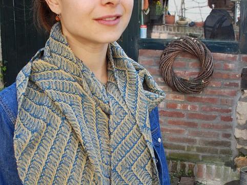 BIO Weefpakket 0006 sjaal russia 8 schachten 2 stuks geel/blauw