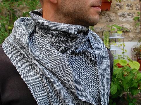 BIO Weefpakket sjaal 0019 shadow 8 schachten 2 stuks